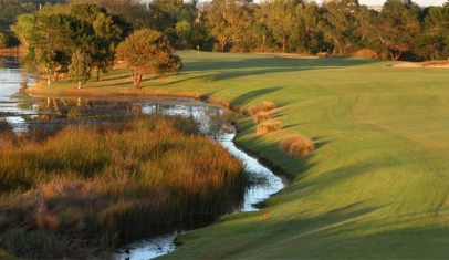 The Lakes # 1 Before - View of the green obscured, and strategic options limited.