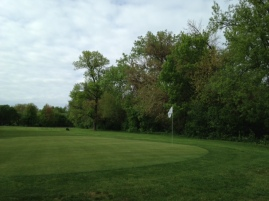Tough pin positions in the back tier of the green will be accessible through the air, or on the ground.