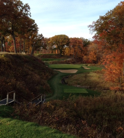#12 - The par-3 twelfth is one of Raynor's most beautiful shorts.