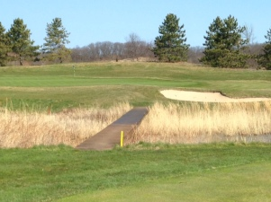 #10 - Left of the green where the fairway ends