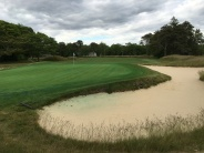 #13 - Par 4 - Behind the green showing wrap-around bunker