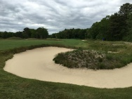 #7 - Par 5 - Rugged and artful bunkers right
