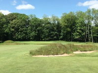#15 - Par 5 - Approach over bunkered mounds right