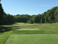 #5 - Par 4 - Tee view downhill to the fairway