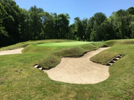 #9 - Par 3 - Artful bunkering provides ample defense