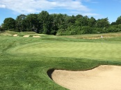 #2 - Par 4 - Left of the green with the 3rd behind