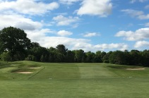 #1 - Par 5 - The approach up to the perched green