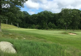 #3 - Par 4 - Short left, from the hillside on the 4th